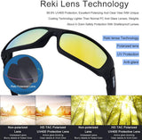 Polarized Sunglasses RE327 by Reki | Sports Sunglasses for Men UV Protection Outdoor Cycling Running Driving Volleyball Fishing Skiing Golf Baseball