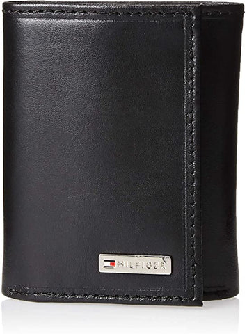 Tommy Hilfiger Men's Trifold Wallet-Sleek and Slim Includes Id Window and Credit Card Holder