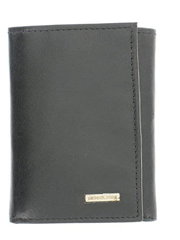 Michael Kors Mens Leather Trifold Wallet - Black