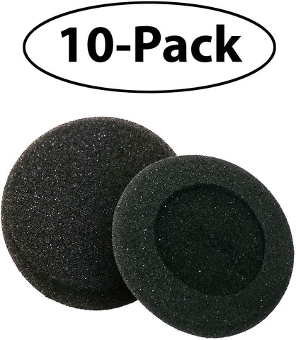 AvimaBasics 10 PAIRS Premium Replacement Ultra Soft Foam Ear Cushions for Plantronics CS50 CS50-USB CS55 CS55+HL10 CS55H CS60 CS60-USB DuoSet H141 H141N Headset - Provide Protection from Spread of Ge