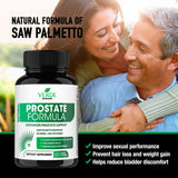 Verde Nutrition Prostate Supplements for Men - Bladder Control Pills Extra Strength Saw Palmetto Extract Promotes Healthy Urinary Flow & Bladder Function, DHT Blocker - Libido & Stamina Boost