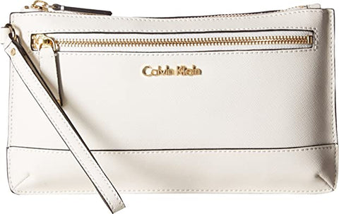Calvin Klein Women's Large Wristlet White One Size