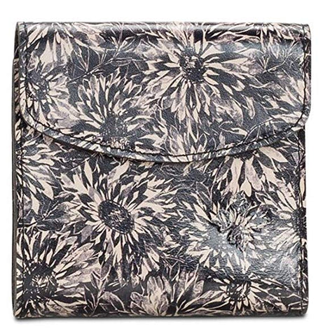 Patricia Nash Reiti Sunflower Black White Wallet