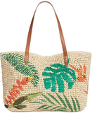 I.N.C. International Concepts Tropical Straw Tote, Natural/Multi
