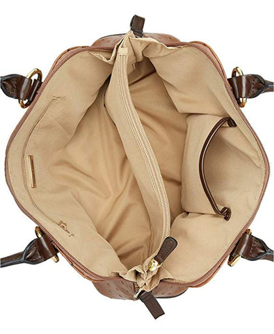 Giani Bernini Ostrich-Embossed Medium Dome Satchel (Beige)