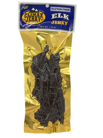 Climax Premium Natural Style GLUTEN FREE Thick Strips 1.75 OZ. Elk Jerky