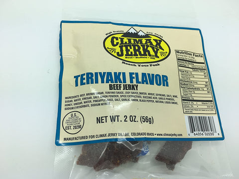 Climax Premium Beef Teriyaky 2 OZ. Beef Jerky
