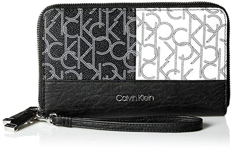 Calvin Klein Key Item Monogram Large Zip Around Wallet