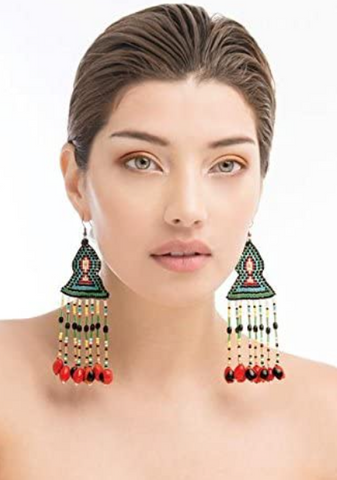 Beautiful HAKHU AMAZON DESIGN Tres Dimensiones (Earrings) Artisan Handmade from Ecuador
