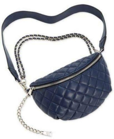 Steve Madden Mandie Belt Bag Navy Silver - Retail Price $68