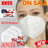Safety KN95 Disposable Face Mask PM2.5 Breathable 4-Layer Cover - USA Ships ASAP