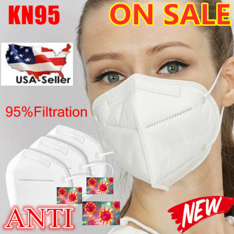 High Quality Safety KN95 Disposable  5-Layer Cover Face Mask - USA Ships ASAP