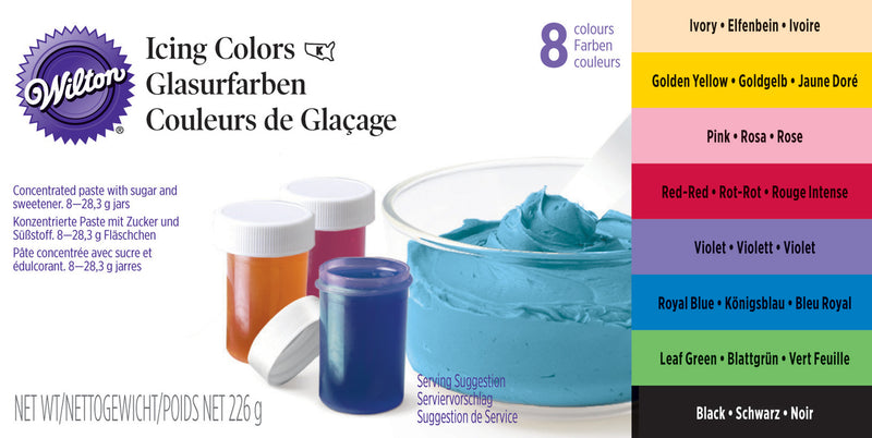Wilton - 8pc Icing Colour Set