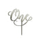 Cake Topper - One - Silver Mirror Acrylic
