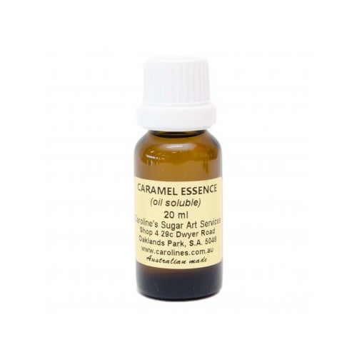 Caramel Oil Based Essence 20ml - Carolines Sugar Art
