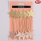 Coral - Luxe Star Cupcake Picks 12pk
