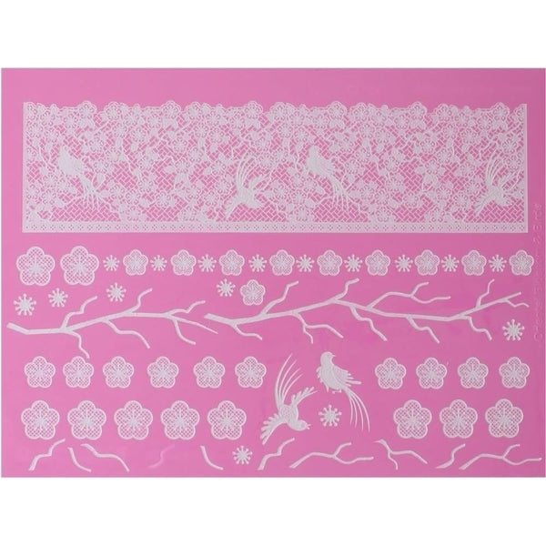 Oriental Blossoms & Birds Lace Mat