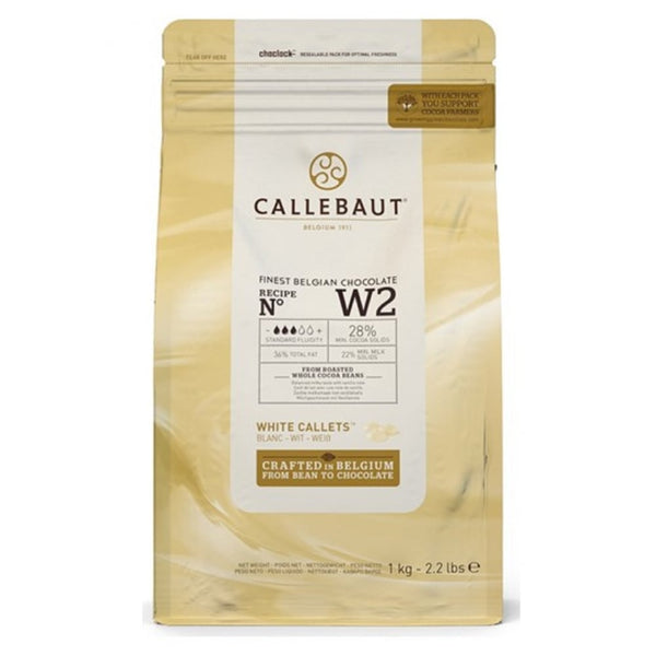 Callebaut White Couverture Chocolate Callets (Melts) 28% - 1kg