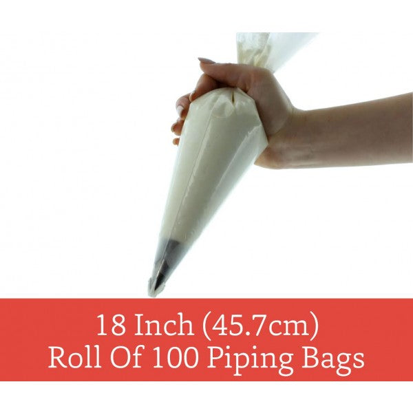 Piping Bags - 18 inch Disposable - Roll of 100