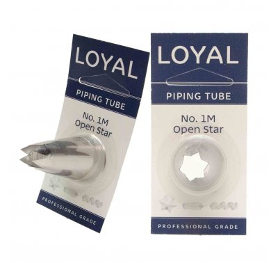 No 1M Open Star Medium Piping Tip - Loyal