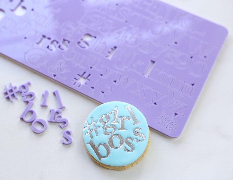 Classic - Alphabet, Numbers, Symbols - Sweet Stamp - purple