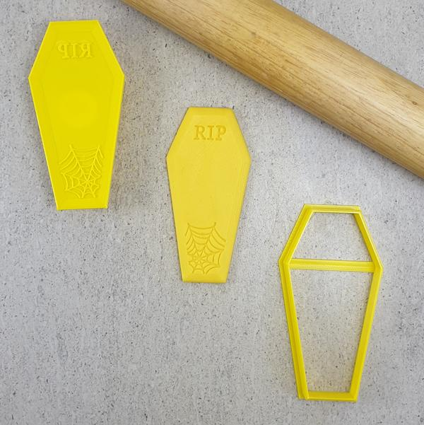 Embosser & Cutter Set - RIP Coffin