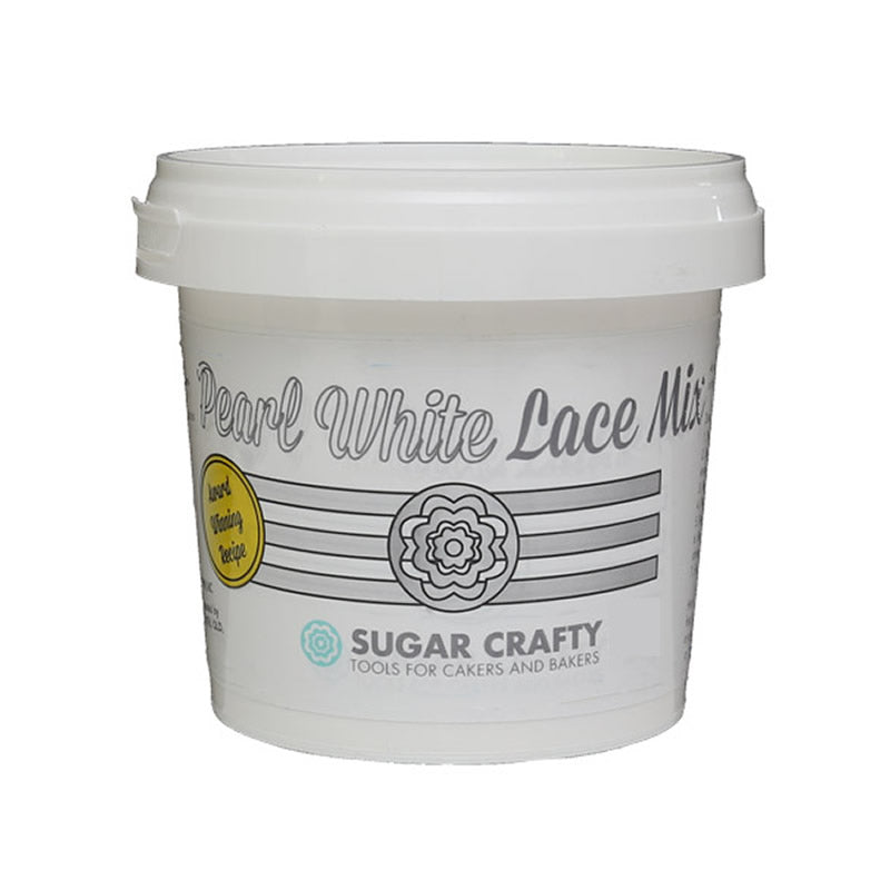 Pearl White Cake Lace Mix 500g - Sugar Crafty