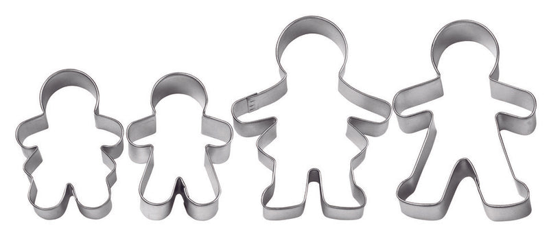 GINGERBREAD FAMILY 4 PC CUTTER SET - Wilton