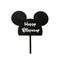 Cake Topper - Mickey Mouse Happy Birthday - Black Acrylic
