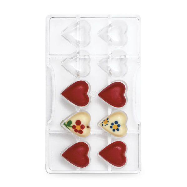 Chocolate Mould - Small Hearts (32mm) 10 cavities - Polycarbonate