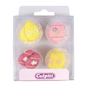Easter Eggs - Cupcake Sugar Decorations