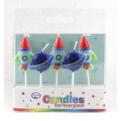 SPACE FUN CANDLES 5PC