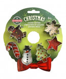 Christmas Mini Wreath Cookie Cutter Set of 6 - R&M Int