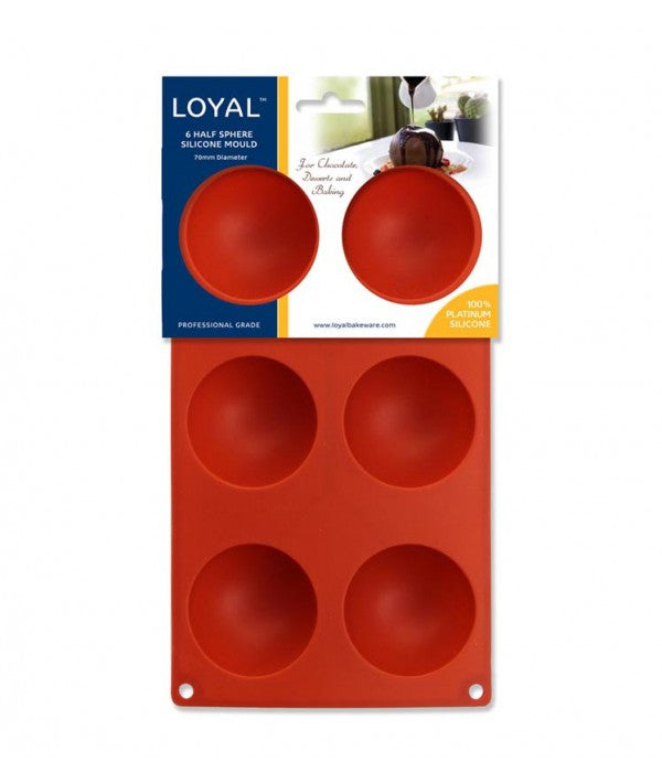 Silicone Baking Chocolate Mould - 70 mm Hemisphere - Loyal