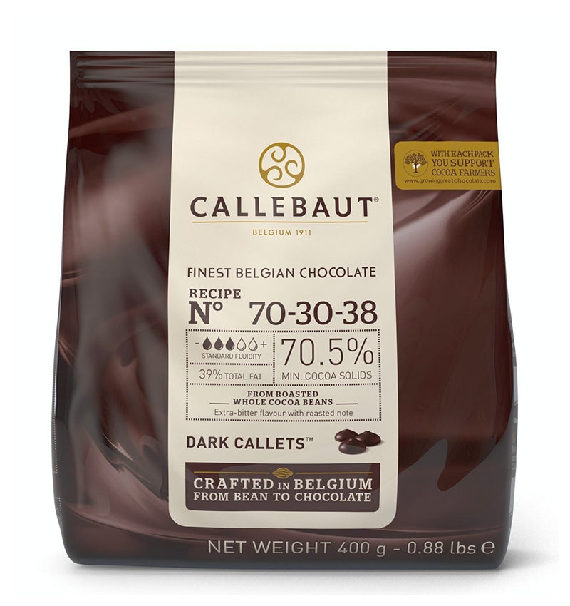 Callebaut Dark Couverture Chocolate Callets (Melts) 70% - 400g