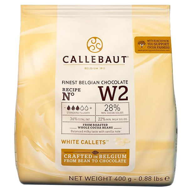 Callebaut White Couverture Chocolate Callets (Melts) 29.5% - 400g