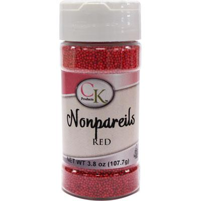 Red Non Pareils Sprinkles 107g - CK Products