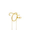 Cake Toppers - One - Gold Plated Metal