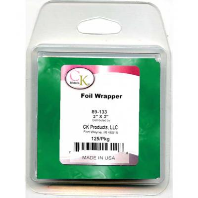 Green Foil Chocolate Wrappers 125pk
