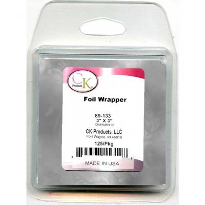 Silver Foil Chocolate Wrappers 125pk