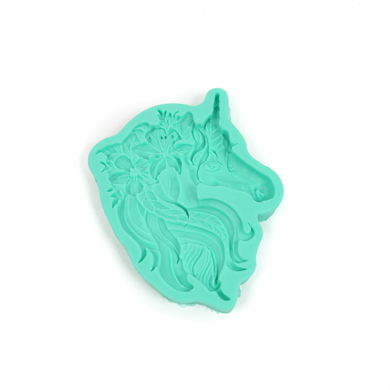 Silicone Mould - Floral Unicorn
