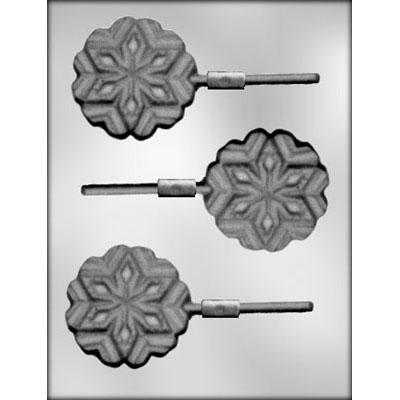 Snowflake Lollipop Chocolate Mould (3 cavities)