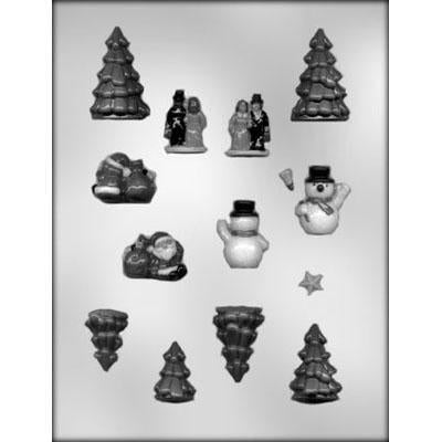 Christmas Village Accessories Chocolate Mould (Gingerbread House Scenery)
