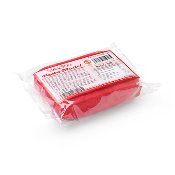 Modelling Paste - Red 250g - Saracino