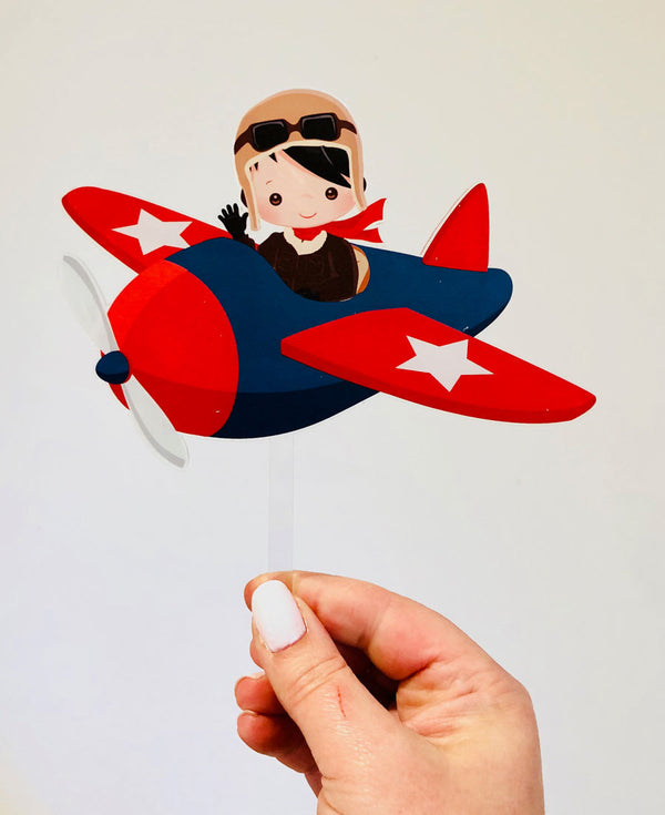 Air Plane - Printed Acrylic Cake Topper