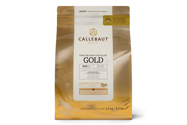 Callebaut Gold Couverture Chocolate Callets (Caramel Melts) 30.4% - 2.5kg