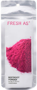 50g Beetroot Powder - Freeze Dried  Harvested in the North of New Zealand, fresh beetroot is freeze dried then finely milled into a powder, maintaining its vibrant colour, superior flavour and rich nutrients.  Available at Latorta - Canberra Australia