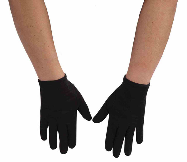 Gloves - Black Cotton Food Prep Gloves (1 Pair)