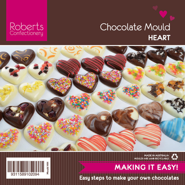 HEARTS (SMALL) CHOCOLATE MOULD WITH RECIPE CARD