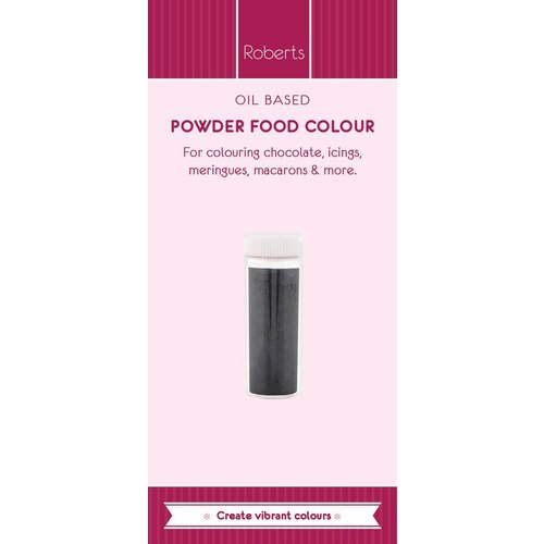 Oil Based Powder Food Colour 1g - Black